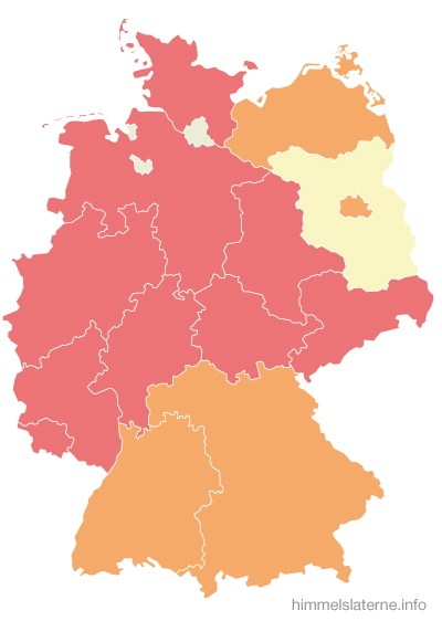 Verbote in den jeweiligen Bundesländern